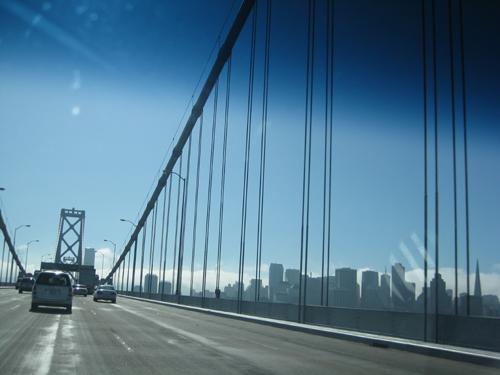 sf skylilne from bay bridge