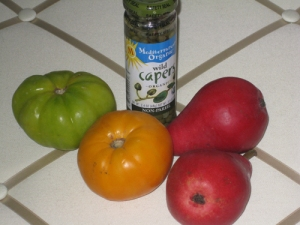 blog - tomatoes, red pears & capers