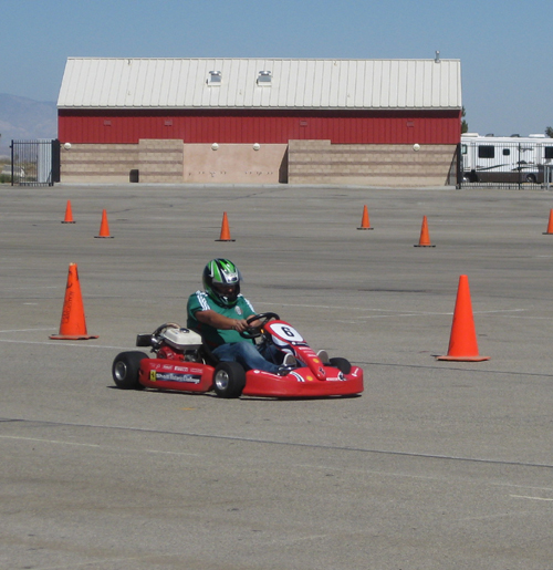 go kart practicing for race
