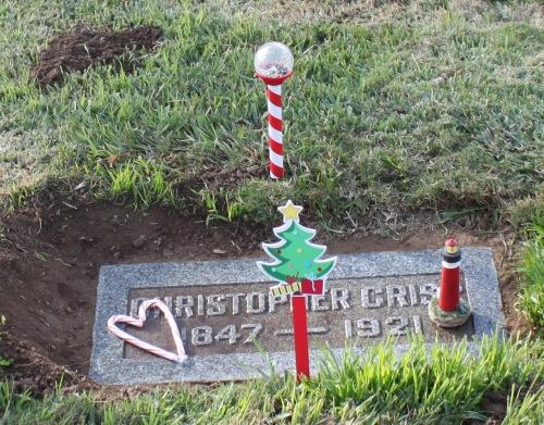 Christopher Crisp gravesite 2013
