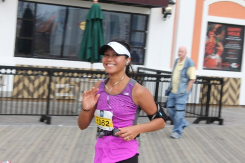 vanessa at mile 8